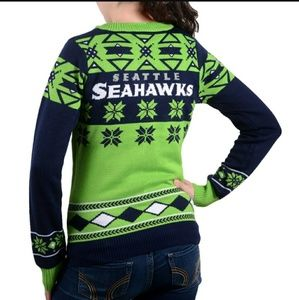 nfl sweaters nfl seattle seahawks christmas sweater small - Seahawks Christmas Sweater
